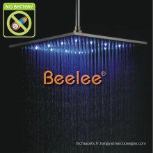 """Pomme de douche de pluie de 12 """"LED en acier inoxydable"""