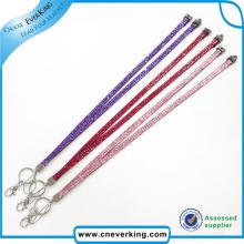 Cordón de nylon, cuerda de impresión, cordón de cuello de diamantes de imitación