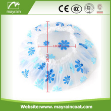 Wholesale PE Plastic Customized Hotel Disposable Shower Cap