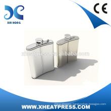 8oz Printing Hip Flask/Wine Pot with logo popular design heat press