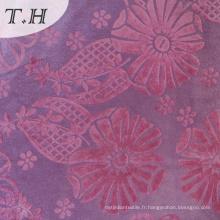 Nouveau tissu de rideau floqué