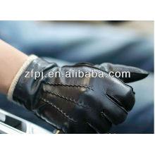 2013 hombres calientan cuero de los guantes de la motocicleta