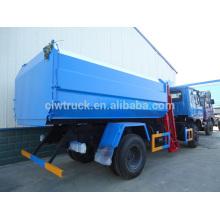 Dongfeng grande capacidade de vendas de caminhão de lixo no Peru, 4x2 caminhão de empilhadeira de gancho
