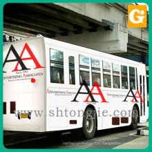 Publicité faite sur commande de publicité amovible autocollant de vinyle fenêtre de voiture