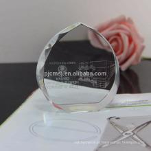 Paperweight de cristal de venda quente para favores do casamento