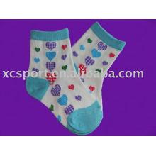 Calcetín de algodón color niño