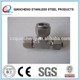 Stainless steel compression tee fitting