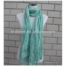 Robe de teinture en polyester plissé écharpe hijab