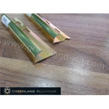 Perfil de alumínio borda redonda Trim com ouro anodizado
