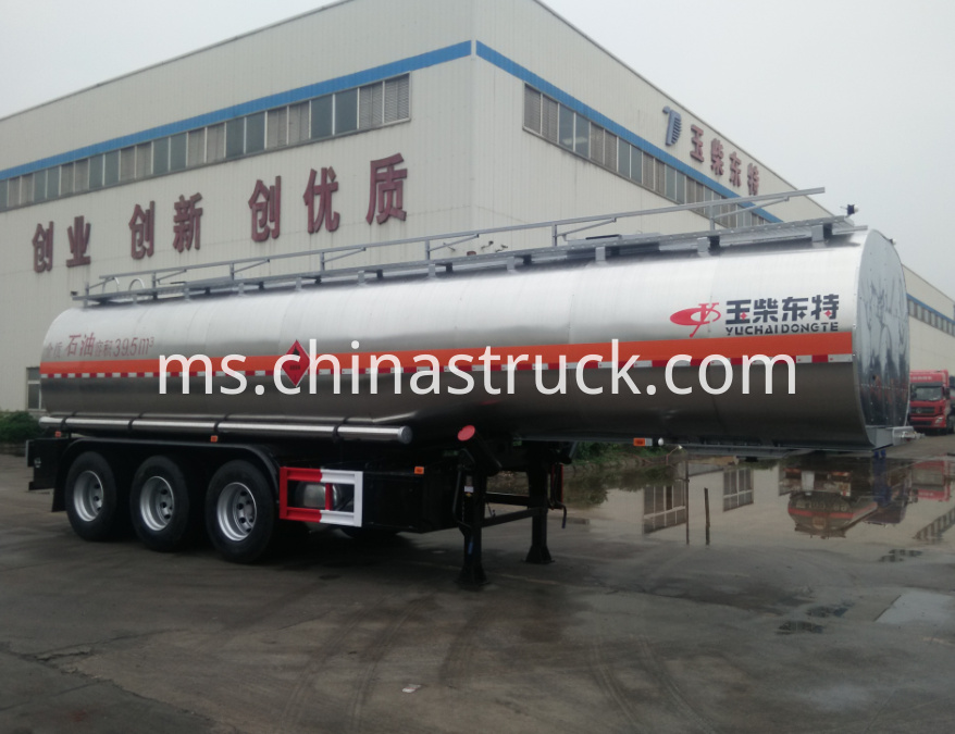 40000 liters crude oil tank semi-trailer