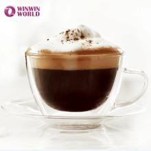Amazonas Geschenk Doppelwand Borosilikatglas Tassen Und Untertassen Für Kaffee Tee Espresso