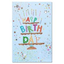 Cartão feito sob encomenda do convite da festa de anos