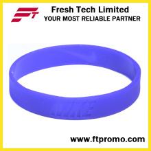 Moda personalizado esportes silicone pulseira com o seu logotipo