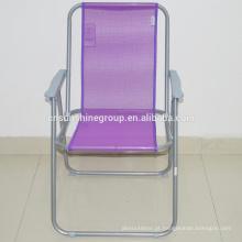 Teslin promocional, cadeira de praia de areia de dobramento