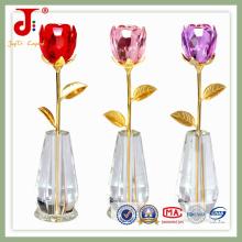 Flor de decoração de cristal com vaso (JD-CF-105)