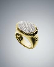 David Yurman Oval Pave Ring