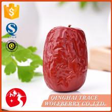 Frutas Jujube, frutas de jujuba vermelhas, jujuba seco orgânico vermelho