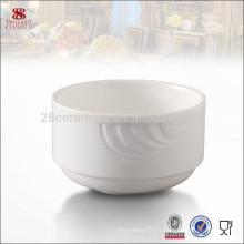 Vaisselle en porcelaine blanche en céramique mélamine chinoise bordée de bol à soupe