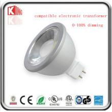 Reflector de 5W / 7W Dimmable 12V LED MR16 con la base Gu5.3