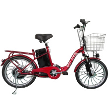 Lead-acid battery Electric bicycle with basket