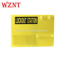 Station de consignation en PVC jaune durable, station de consignation à 5 cadenas (carte uniquement)