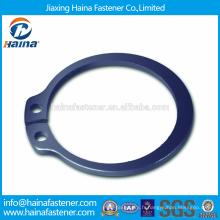 Fournisseur chinois Meilleur prix DIN471 Acier au carbone Anneaux de retenue pour arbre avec dacromet / surface d'oxyde noir