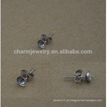 BXG029 Brinco inoxidável suprimentos, almofadas posts e costas de aço inoxidável, jóias hypoallergenic resultados