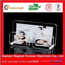 Regalo promocional magnético en blanco del imán del refrigerador del marco de la foto de acrílico