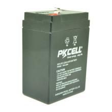 PKCELL Großhandelspreis VRLA versiegelte Bleibatterie 6v 4.5ah für Solaranlage