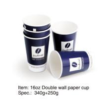 Doppelte Mauer Papier Kaffeetasse