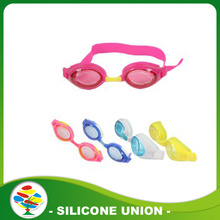 Hot Sale Colorful Baby Waterproof Silicone Swimming Glasses