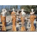 Geschnitzte Marmor Statue Stein Carving Skulptur Gartenmöbel für Dekoration (SY-X1079)