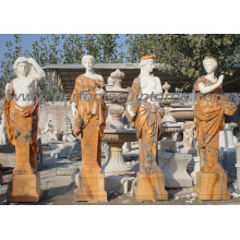 Резьба каменная мраморная статуя 4 сезона для сада (SY-C1064)