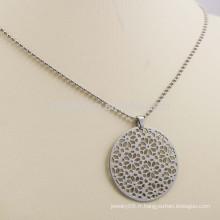 Ensemble de pendentif rond en métal plaqué argent