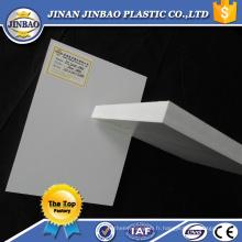 feuille celuka de panneaux de mur en plastique rigide de feuille de pvc pour la fabrication de panneau de signalisation