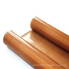 Pano de fibra de vidro revestido com PTFE antiaderente e resistente ao calor