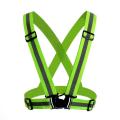 Gilet réfléchissant de sécurité haute visibilité vert fluorescent