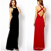 Sexy Women Summer Chiffon Long Dress (14317-1)