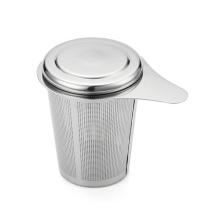 Copo de aço inoxidável em forma de caneca infusor de chá