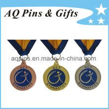Médailles en gros avec ruban pour la gymnastique
