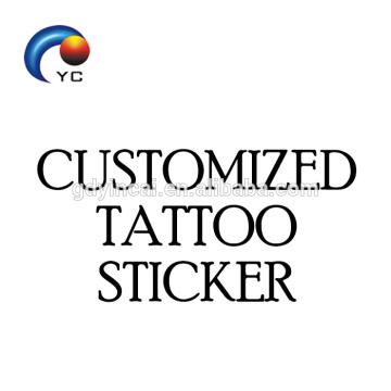 Customized Temporary Tattoo Sticker Service