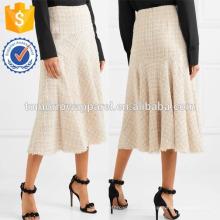 Nova Moda Multicolorido Tweed Midi Saia DEM / DOM Fabricação Atacado Moda Feminina Vestuário (TA5155S)