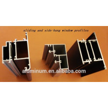 Fenêtres en porcelaine en aluminium et profilés de porte