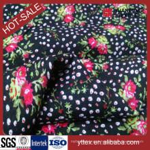 Printed Little Flower 100% Rayon tecido para tecido feminino