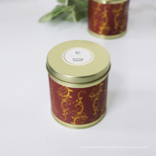 customizable logo and design paraffin/soy wax scetned candle in tin box