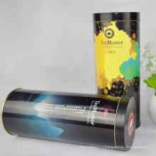 Круглый Оптовый Чайный олово, Рекламная жестяная банка, Кофейная коробка для олова