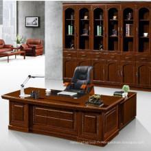 Meubles de bureau de haute qualité en bois en forme de l table de bureau table de bureau de taille exécutive