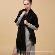 70x200cm подгонянная конструкция толстый классический черный длинный кашемир бесконечности шарф