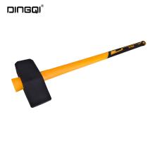DingQi Marteau de masse à tête en caoutchouc double face de haute qualité
