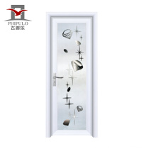 2018 alibaba powder coated latest design aluminium bathroom door